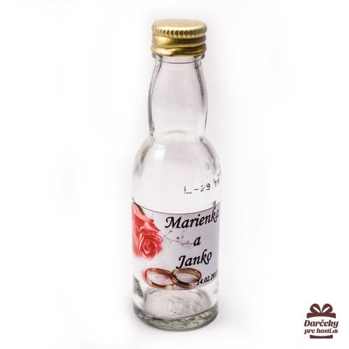 Svadobné mini fľaštičky pre hostí, motív S16