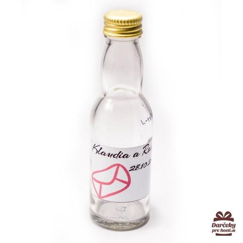 Svadobné mini fľaštičky pre hostí, motív S29 - Svadobné fľaštičky malé