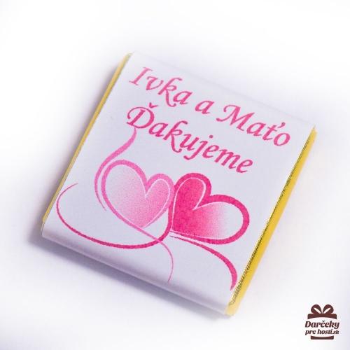 Svadobné mini čokoládky pre hostí SC02