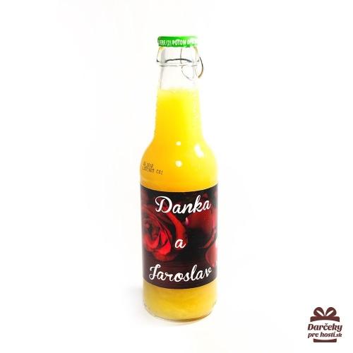 Svadobný ovocný nápoj pre hostí, motív S001 - Svadobný ovocný nápoj