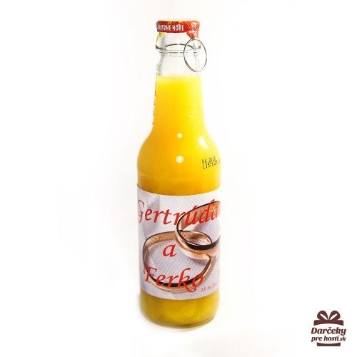Svadobný ovocný nápoj pre hostí, motív S006