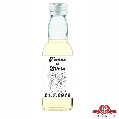 Svadobné mini fľaštičky pre hostí, motív S27