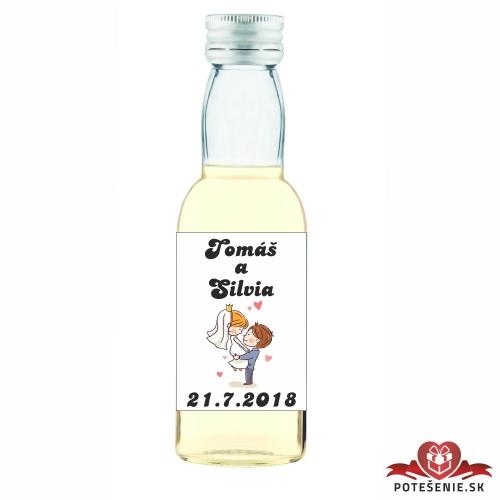 Svadobné mini fľaštičky pre hostí, motív S42