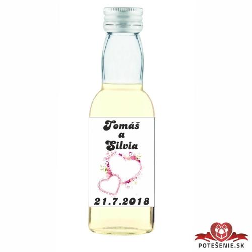 Svadobné mini fľaštičky pre hostí, motív S68