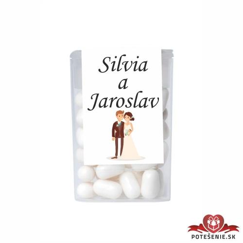 Dražé cukríky pre svadobných hostí, motív S013