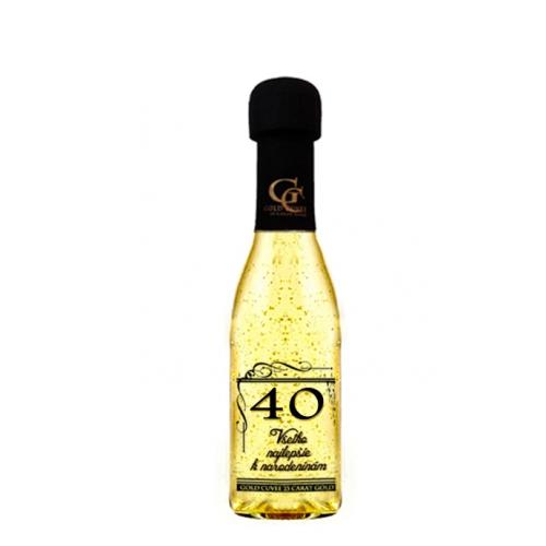 Zlaté šumivé 0,2 l Narodeniny 40