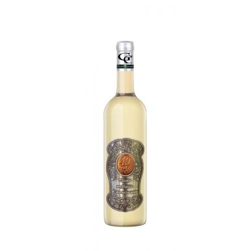 40 Rokov Darčekové víno Biele Kovová etiketa