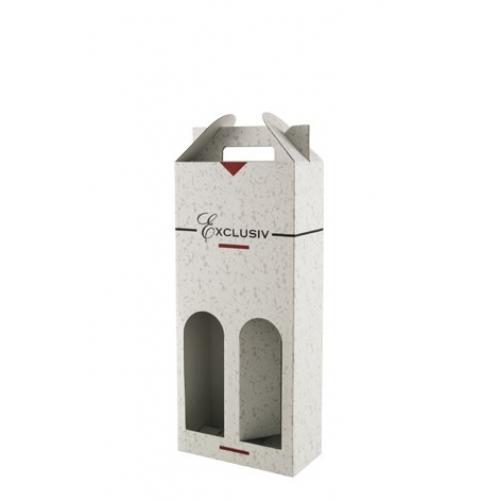 Box na víno exlusive biela 2 fl.