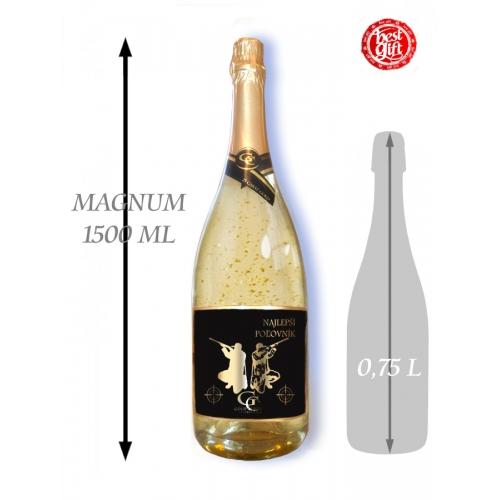 1,5  L Gold Cuvee šumivé víno so zlatom Najlepší poľovník
