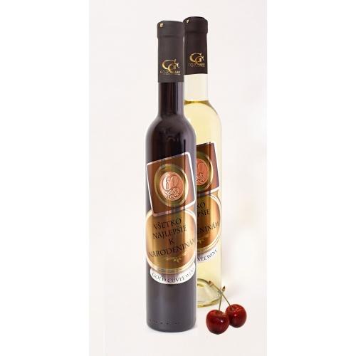 0,5 L Darčekové víno - Kovová Etiketa Višňové víno