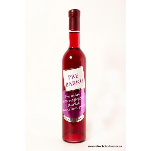 Darčekové víno -Pre babku.