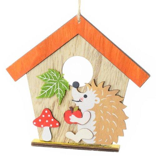 Záves domček+ježko16x15x2cm