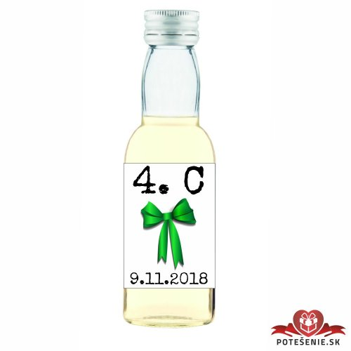 Maturitná fľaštička s alkoholom, motív M005