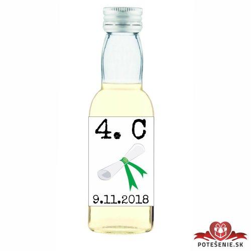 Maturitná fľaštička s alkoholom, motív M001