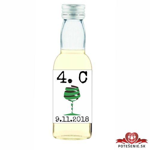 Maturitná fľaštička s alkoholom, motív M006
