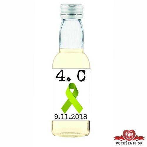 Maturitná fľaštička s alkoholom, motív M004