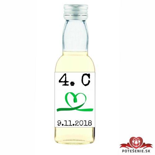Maturitná fľaštička s alkoholom, motív M003