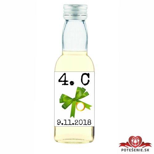 Maturitná fľaštička s alkoholom, motív M008