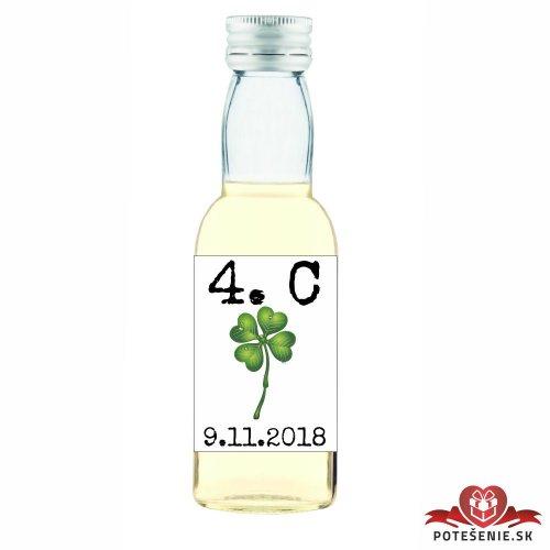 Maturitná fľaštička s alkoholom, motív M009