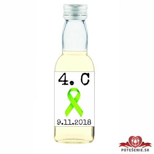 Maturitná fľaštička s alkoholom, motív M010