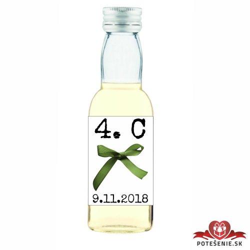Maturitná fľaštička s alkoholom, motív M011