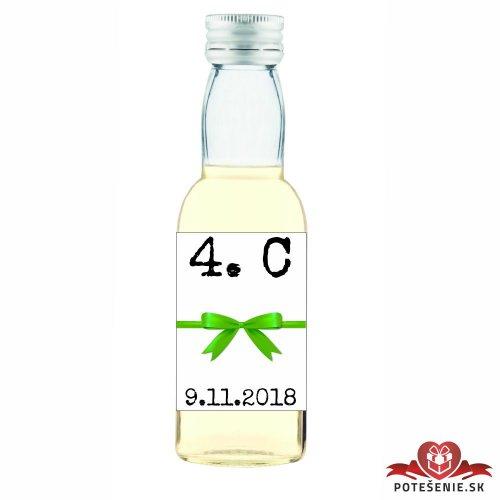 Maturitná fľaštička s alkoholom, motív M012