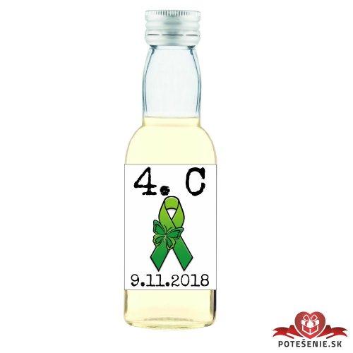 Maturitná fľaštička s alkoholom, motív M015