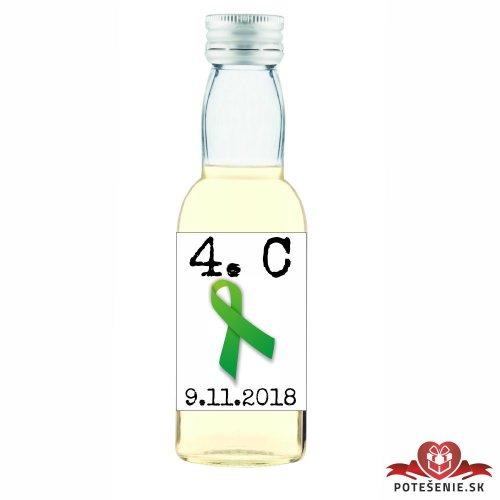 Maturitná fľaštička s alkoholom, motív M017