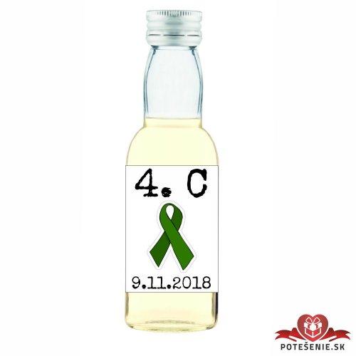 Maturitná fľaštička s alkoholom, motív M018