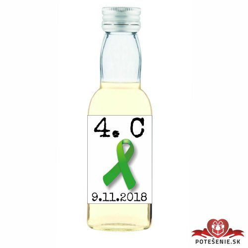 Maturitná fľaštička s alkoholom, motív M019