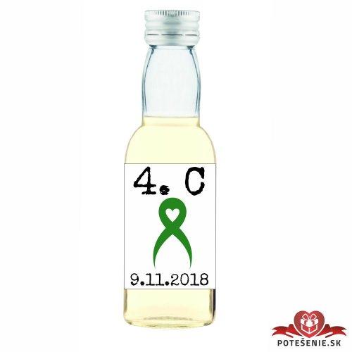 Maturitná fľaštička s alkoholom, motív M021