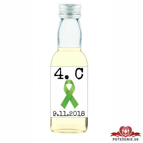 Maturitná fľaštička s alkoholom, motív M022