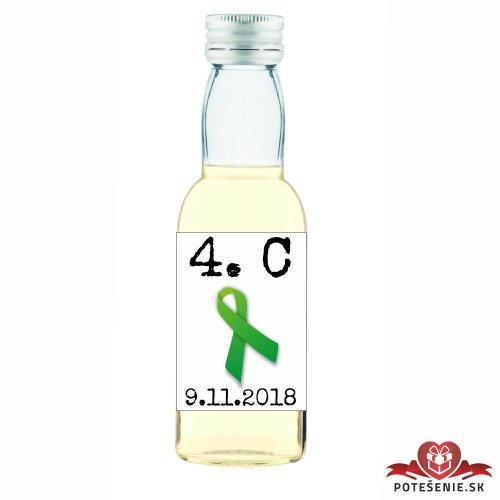 Maturitná fľaštička s alkoholom, motív M002