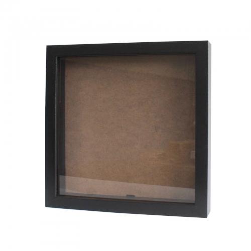 Hlboký Rám - Štvorec 25 x 25cm Čierny
