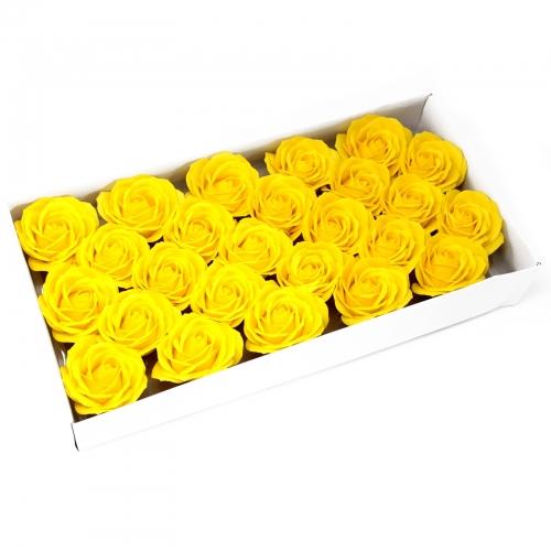 Mydlové kvety, veľká ruža - žltá - Mydlové kvety
