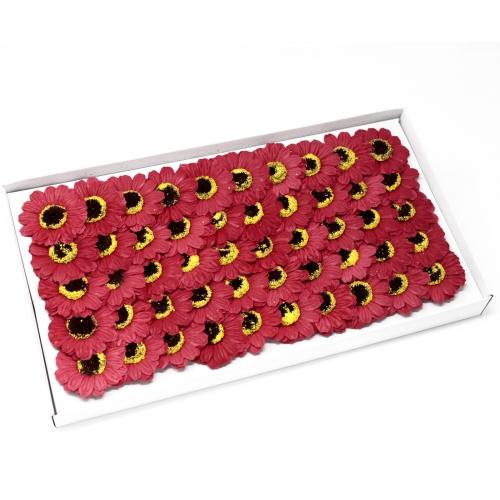 Mydlové kvety, malá slnečnica - červená - Mydlové kvety