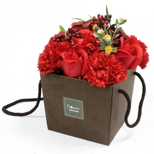 Mydlové kvety, ruža a klinček - V darčekovej krabici