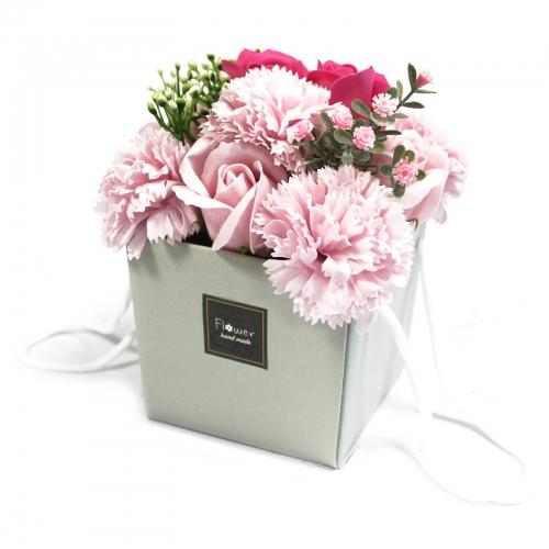 Mydlové Kvety - Ružová Ruža a Klinček - Mydlové kytice