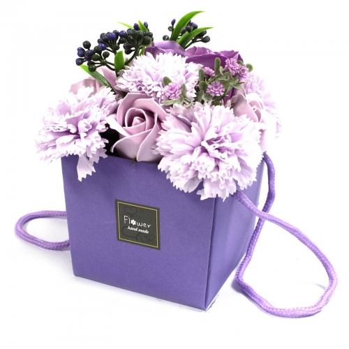 Mydlové kvety, levanduľová ruža a klinček - Mydlové kytice
