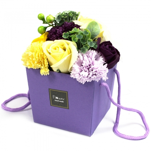 Mydlové kvety - fialová záhrada - Mydlové kytice