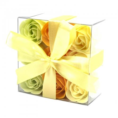 Sada 9 Mydlových Kvetov - Jarné Ruže - Mydlové kvety