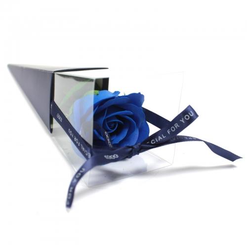 Mydlový kvet - modrá ruža - Mydlové kvety