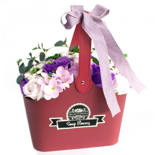 Stojaca mydlová kytica - fialová