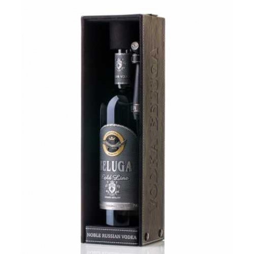 Beluga Gold Leather Case Vodka 0,7l (40%) - Vodka
