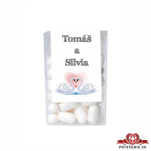 Dražé cukríky pre svadobných hostí, motív S165