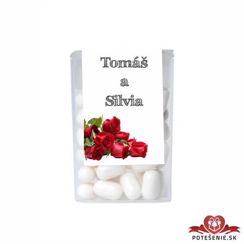 Dražé cukríky pre svadobných hostí, motív S179