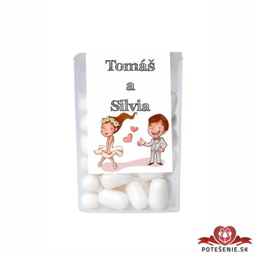 Dražé cukríky pre svadobných hostí, motív S193 - Svadobné cukríky