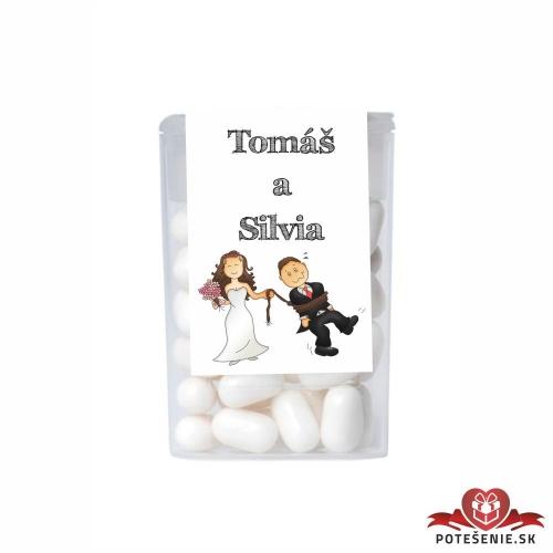 Dražé cukríky pre svadobných hostí, motív S207
