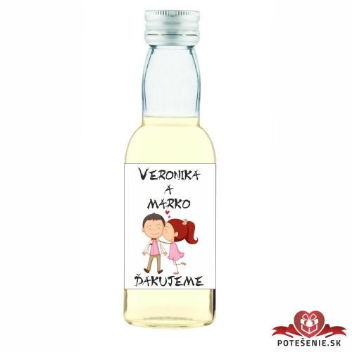 Svadobné mini fľaštičky pre hostí, motív S125