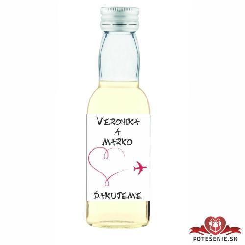 Svadobné mini fľaštičky pre hostí, motív S178 - Svadobné fľaštičky malé